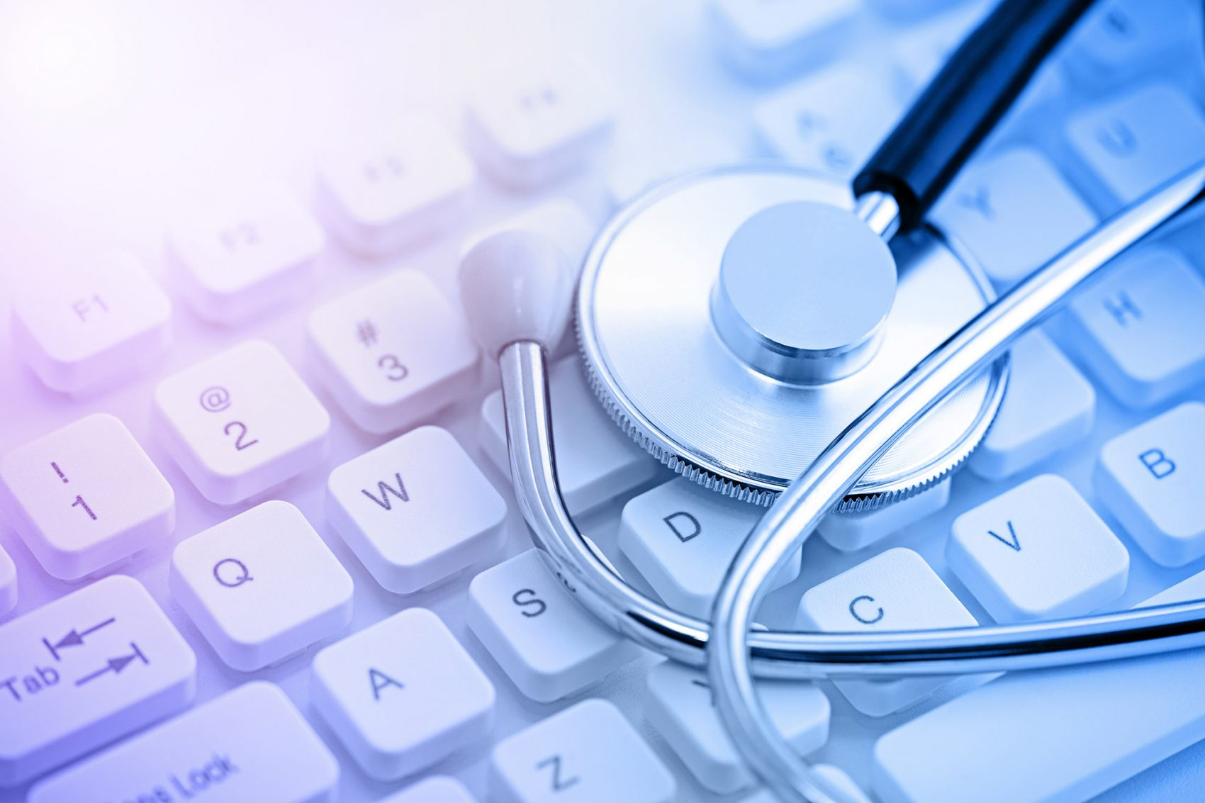 stethoscope on keyboard-healthcare-orginal