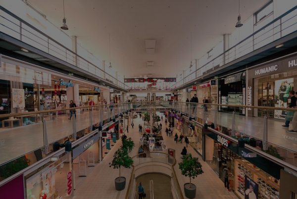 interior shopping mall scene