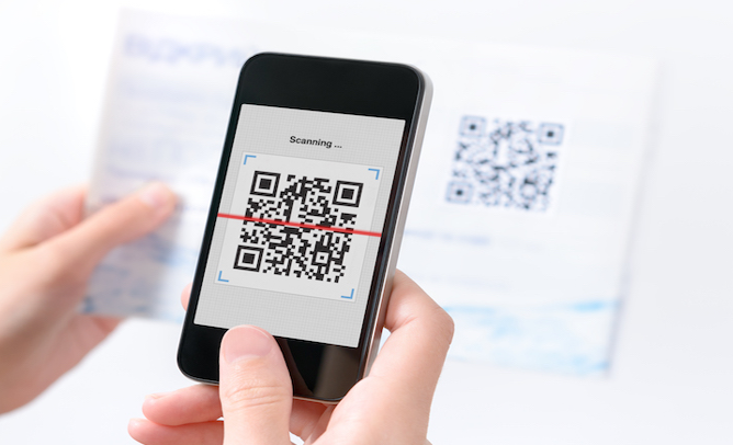 QR code scanning from direct mail