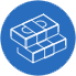cost effectiveness icon - blue