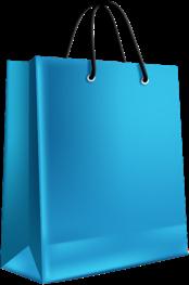 blue shopping bag