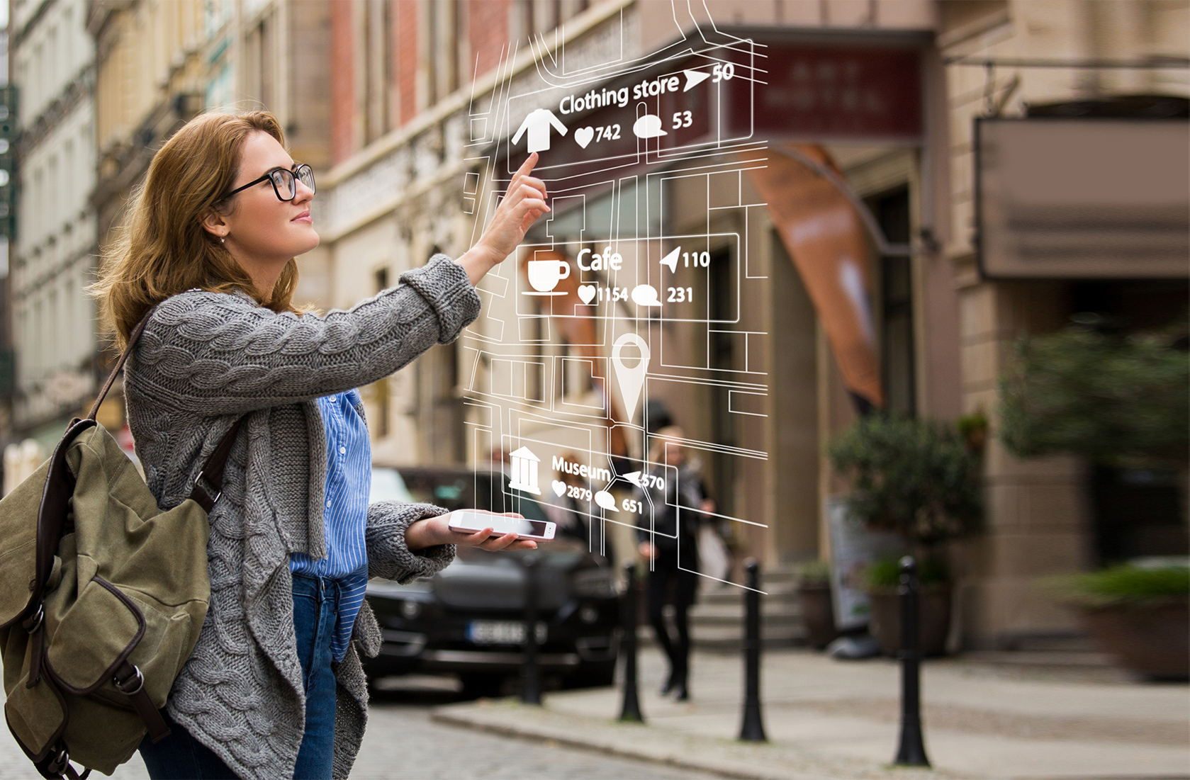 augmented reality - featured -woman using AR