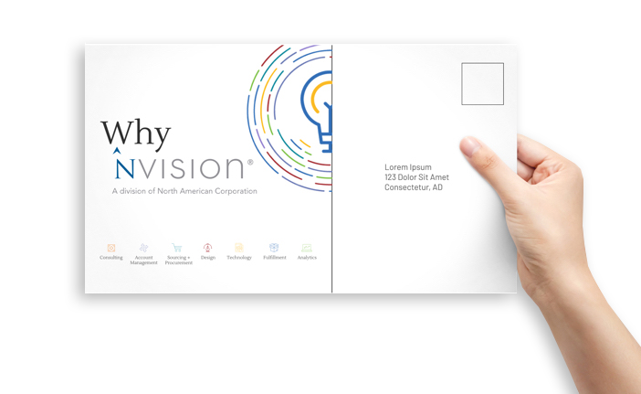 NVISION postcard - direct mail