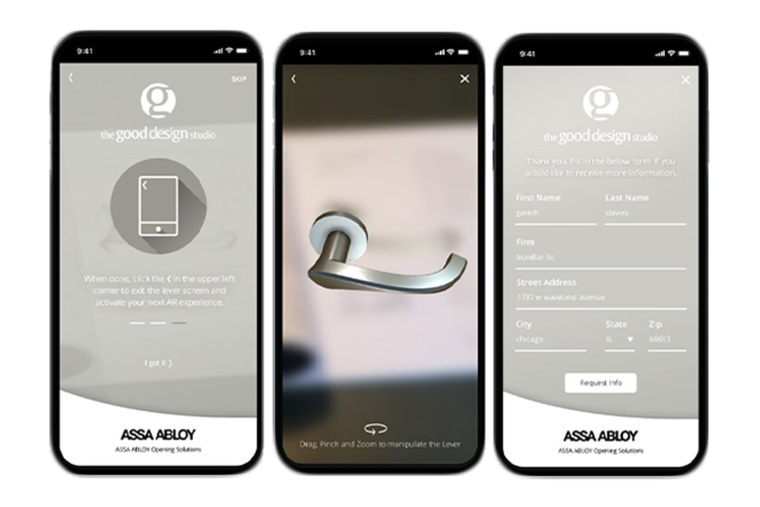 mobile view of assa abloy app