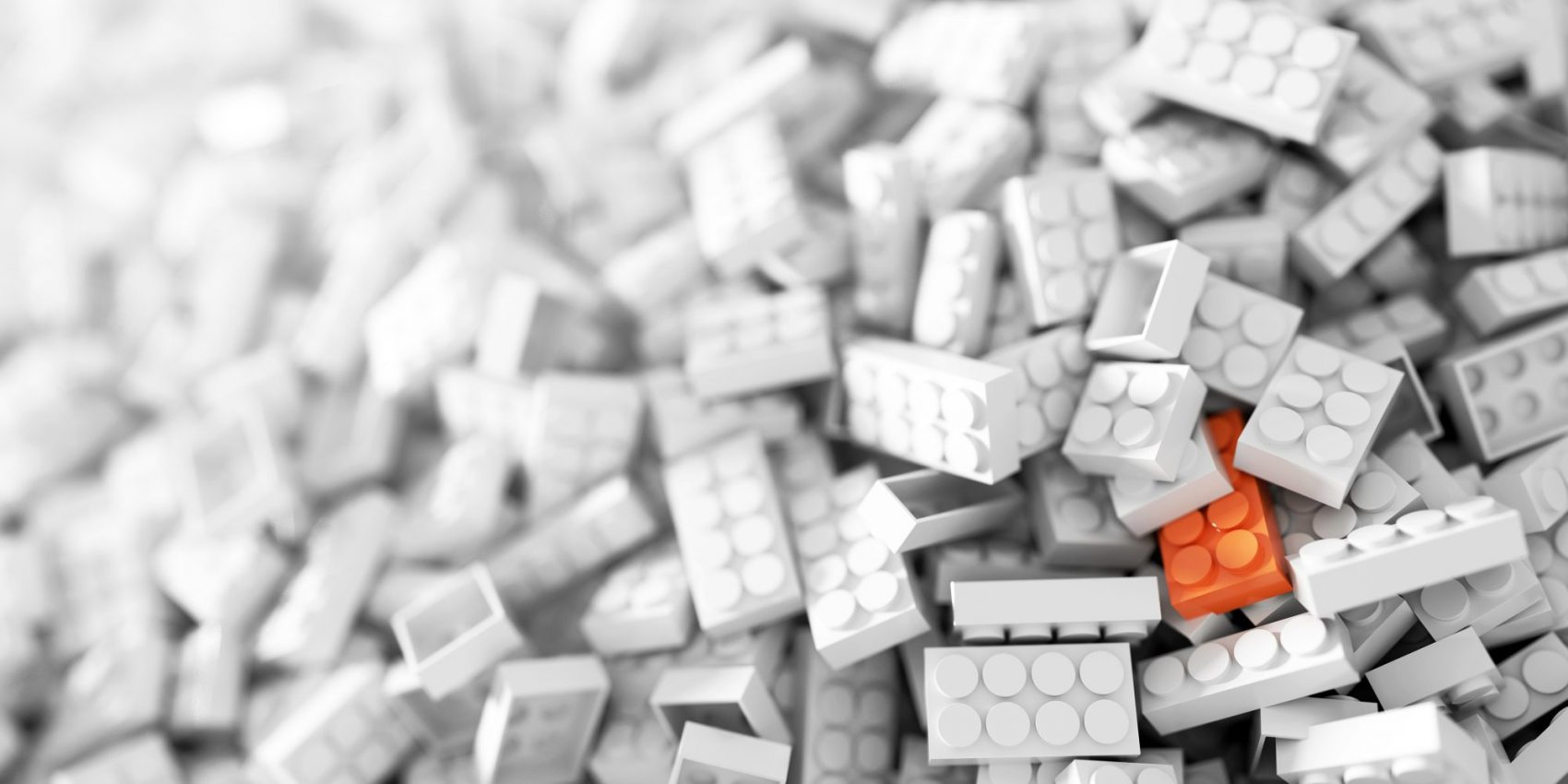 blocks with one orange block-building products