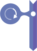 Violet Icon with arrow going circle