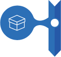 Blue Icon with box