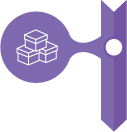Purple Icon with three boxes