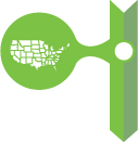 Green Icon with US map