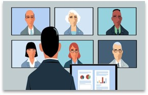 virtual meeting-video conferencing-illustration