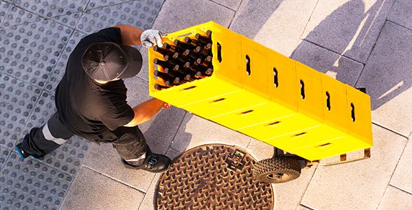 man delivering beer