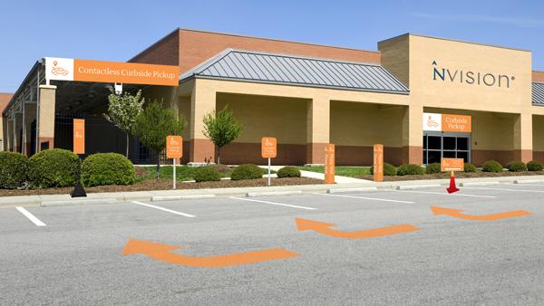 BOPIS parking lot signs